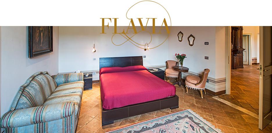 Villa dell'Annunziata camera matrimoniale Flavia
