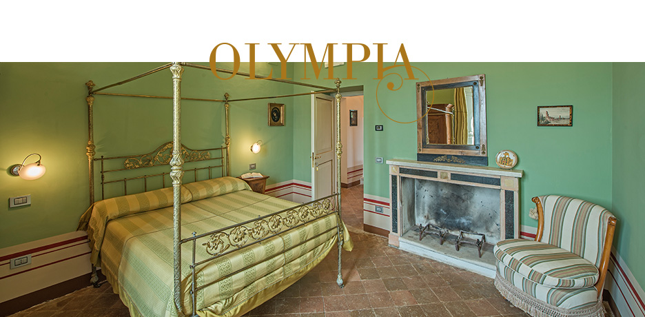 Villa dell'Annunziata camera matrimoniale Olympia