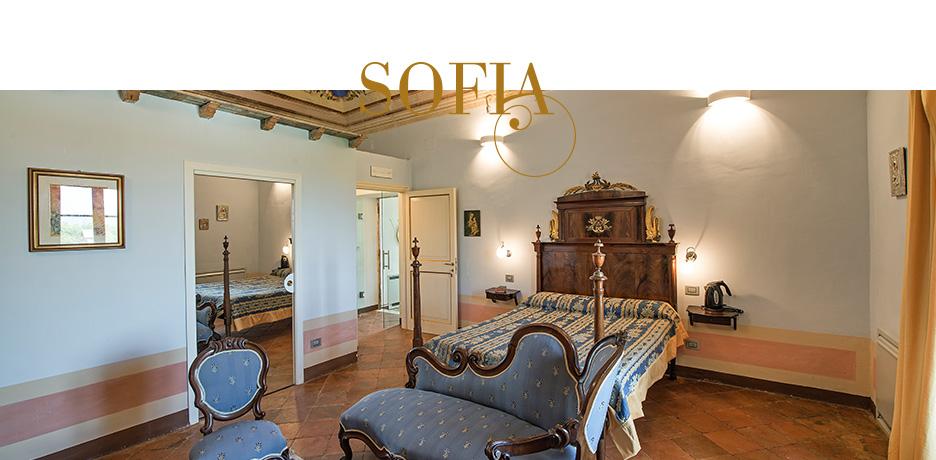Villa dell'Annunziata camera matrimoniale Sofia